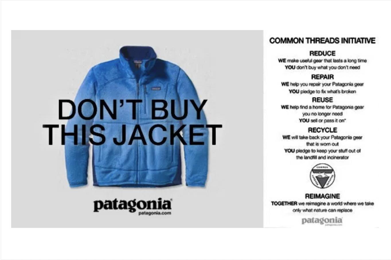 Kampagne von Patagonia Don't Buy This Jacket